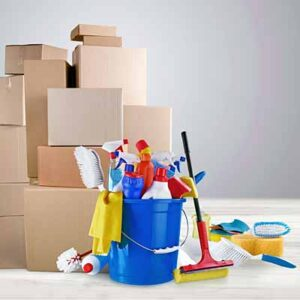 mixed janitorial supplies and packaging